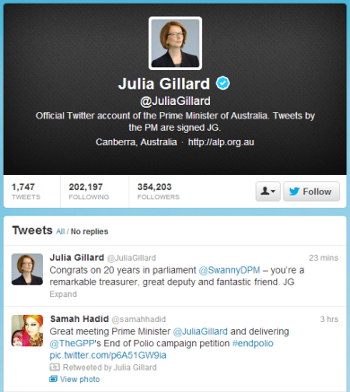 Gillard tweet